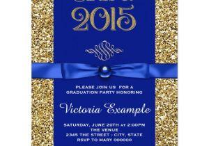 Blue and Gold Graduation Invitations Royal Blue and Gold Graduation Announcements Zazzle Com