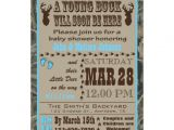 Blue Camo Baby Shower Invitations Blue Hunting Camo Baby Shower Invitations