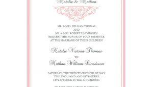 Blush Pink Wedding Invitation Template Grace Wedding Invitation Blush Pink Wedding Template Shop