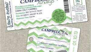 Boarding Pass Baby Shower Invitations Baby Shower Boarding Pass Invitation Casen Campbell On