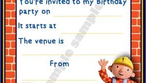 Bob the Builder Birthday Party Invitations Bob the Builder Birthday Party Invitation Invites by Shazian