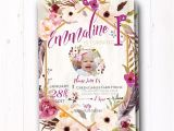 Boho Chic Birthday Invitations Boho Chic Birthday Invitation Bohemian Baby Girl Boho Wild