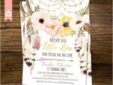 Boho Chic Birthday Invitations Boho Chic First Birthday Invitation Rustic by