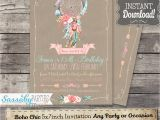 Boho Chic Birthday Invitations Boho Chic Party Invitation