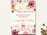 Boho Chic Birthday Invitations First Birthday Invitation Floral Boho Chic Invite E Little