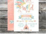 Boho Chic Birthday Invitations Wild E Birthday Invitation Tribal Invite Boho Chic