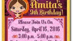 Bollywood theme Party Invitation Card Bollywood Party Birthday Invitations Bollywood Birthday