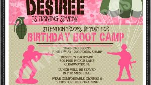 Boot Camp Party Invitations Marine Bootcamp Invitations Party Invitations Ideas