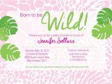 Born to Be Wild Baby Shower Invitations Born to Be Wild Baby Shower Invitation by Friedgreendesign