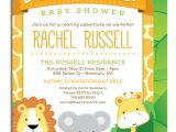 Born to Be Wild Baby Shower Invitations Printable Safari Baby Shower Invitation