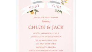 Botanical Baby Shower Invitations Botanical Banner Baby Shower Invitation