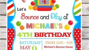 Bounce Party Invites Diy Bounce House Party Invitations Bouncy by thepaperkingdom