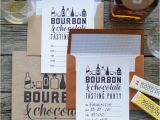 Bourbon Tasting Party Invitations Printable Bourbon and Chocolate Party Kit Lia Griffith