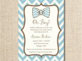 Bow Tie Baby Shower Invites Baby Bow Tie Shower Invitation Custom Printable File by