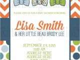 Bow Tie Baby Shower Invites Little Man Bow Tie Baby Shower Invitation by