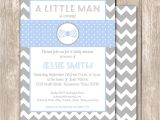 Bow Tie Baby Shower Invites Little Man Bow Tie Chevron Baby Shower Invitation by