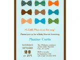 """Bow Tie themed Baby Shower Invitations Bow Tie Baby Shower Invitation 5"""" X 7"""" Invitation Card"""
