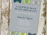 Bow Tie themed Baby Shower Invitations Bow Tie Baby Shower Invitation Little Gentleman Baby Boy