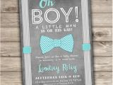 Bow Tie themed Baby Shower Invitations Bow Tie Baby Shower Invitations Little Man Printable by
