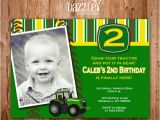 Boy Tractor Birthday Invitations Printable Boys Tractor Birthday Invitation John Deere