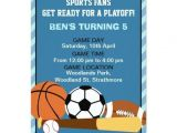 Boys Sports Birthday Invitations 1000 Images About Sports Birthday Party Invitations On