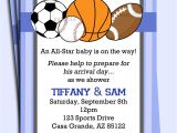 Boys Sports Birthday Invitations All Star Sports Invitation Printable or Printed with Free