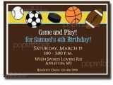 Boys Sports Birthday Invitations Etsy Your Place to and Sell All Things Handmade