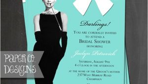 Breakfast at Tiffany S Bridal Shower Invitations Template Breakfast at Tiffany S Bridal Shower Invitation Birthday
