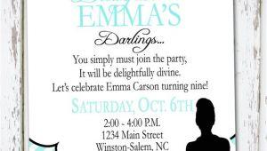 Breakfast at Tiffanys Party Invitations Breakfast at Tiffany 39 S Invitation by Meghily 39 S Catch My