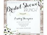 Bridal Shower Brunch Invitation Template Rustic Flowers Bridal Shower Brunch Invitation Zazzle