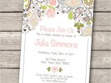 Bridal Shower Invitations Free Printable Invitations Templates Vintage Wedding Shower Invitations