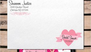 Bridal Shower Invitations with Envelopes Retro Pinup Bridal Shower Invitation Envelope [di 1505env