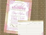 Bridal Shower Invitations with Matching Recipe Cards Bridal Shower Invitations Bridal Shower Invitations and