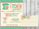 Bridal Shower Invitations with Matching Recipe Cards Kitchen Bridal Shower Invitation Printable File 5 X 7