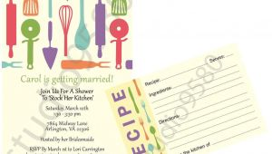 Bridal Shower Invitations with Matching Recipe Cards Printable 'stock the Kitchen' Bridal Shower Invitations
