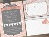Bridal Shower Invitations with Recipe Cards Bridal Shower Printable Invites and Recipe Cards On Behance