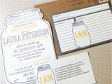 Bridal Shower Invitations with Recipe Cards Mason Jar Bridal Shower Invitations and Recipe Cards