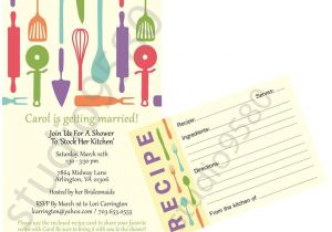 Bridal Shower Invitations with Recipe Cards Printable Stock the Kitchen Bridal Shower Invitations
