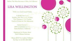 Bridal Shower Invitations Wording Etiquette Bridal Shower Invite Etiquette Template