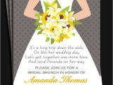 Bridal Shower Luncheon Invitation Wording Bridal Gown Invitation Printable Printed with Free