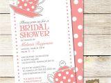 Bridal Shower Tea Party Invitation Wording Bridal Shower Tea Party Invitations Bridal Shower Tea
