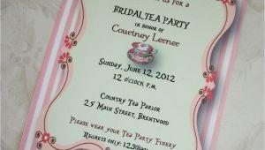Bridal Shower Tea Party Invitations Etsy Bridal Shower Tea Party Invitations Bridal Shower Tea