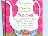 Bridal Tea Party Invitations Free Tea Party Invitation Printable or Printed with Free Shipping