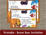 Brown Bear Brown Bear Birthday Party Invitations Brown Bear Brown Bear What Do You See Party Invitation