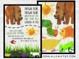 Brown Bear Brown Bear Birthday Party Invitations Brown Bear Invitation Brown Bear Birthday Brown Bear