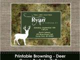 Browning Wedding Invitations Browning Camo Deer Invitation Diy Printable by Sparklingstudio