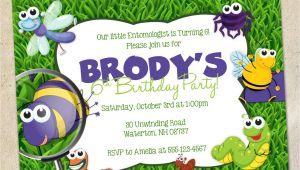 Bug Party Invitation Template Bugs Party Invitation Template Insects Bug Party Invite