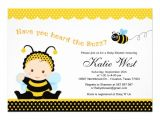 """Bumble Bee Baby Shower Invites Bumble Bee Baby Shower Invitation 5"""" X 7"""" Invitation Card"""