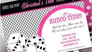 Bunco Birthday Party Invitations Bunco Birthday Invitation Bunco Invitation Bunco Birthday
