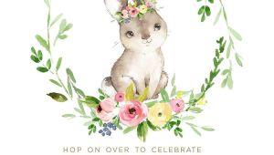 Bunny Birthday Invitation Template Free Bunny Birthday Invitation Editable Bunny Invite First